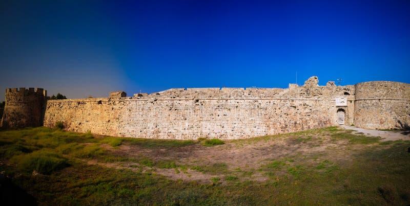 Εξωτερική άποψη του Κάστρου Οτέλλο στην Αμμοχώστου, Κύπρος στοκ εικόνα