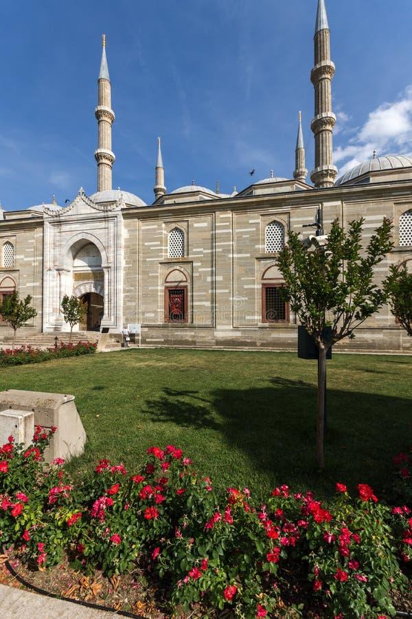 Εξωτερική άποψη του μουσουλμανικού τεμένους Selimiye που χτίζεται μεταξύ 1569 και 1575 στην πόλη της Αδριανούπολης, ανατολική Θρά στοκ εικόνα