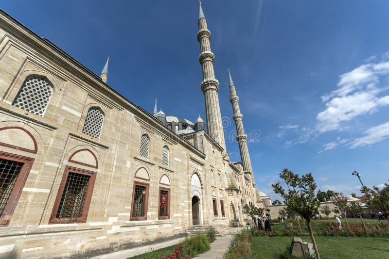 Εξωτερική άποψη του μουσουλμανικού τεμένους Selimiye που χτίζεται μεταξύ 1569 και 1575 στην πόλη της Αδριανούπολης, ανατολική Θρά στοκ εικόνες