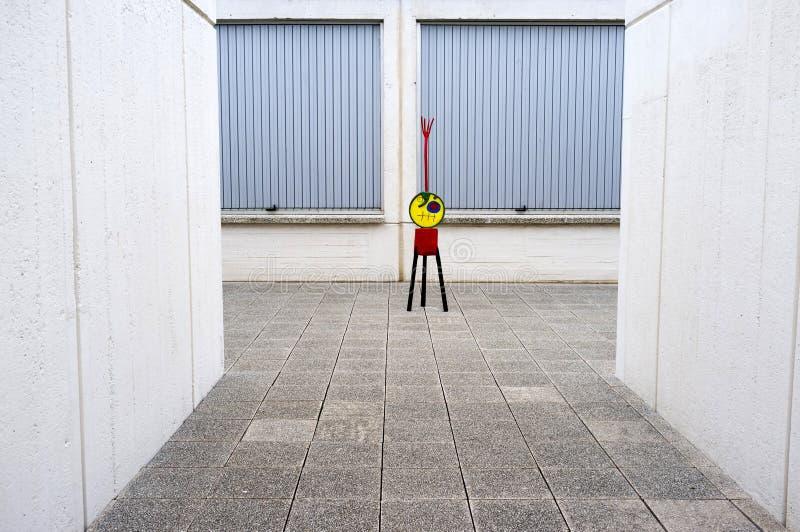 Εξωτερικό ίδρυμα του Joan Miro, που χτίζει από το Josep Lluis Sert, πάρκο, στοκ φωτογραφίες με δικαίωμα ελεύθερης χρήσης