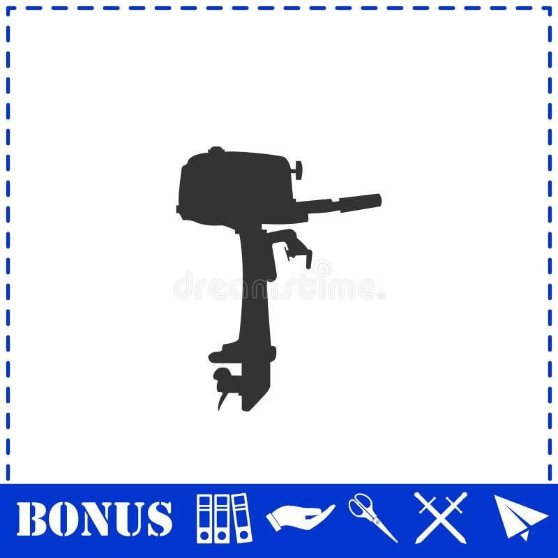 Εξωτερικό εικονίδιο μηχανών βαρκών επίπεδο απεικόνιση αποθεμάτων
