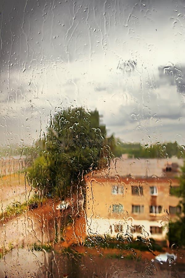 εξωτερικό παράθυρο βροχή&s στοκ εικόνα
