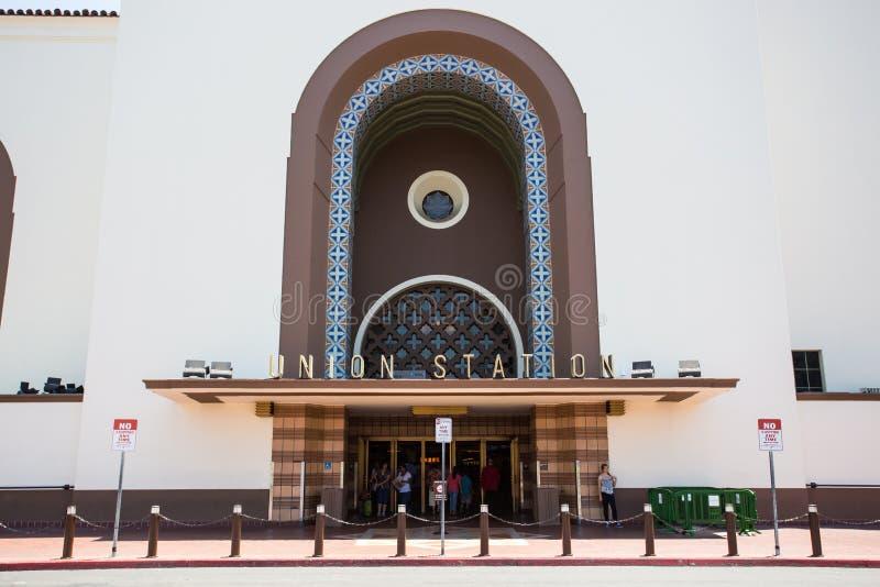 Εξωτερικό σταθμών ένωσης του Λος Άντζελες στοκ εικόνα με δικαίωμα ελεύθερης χρήσης