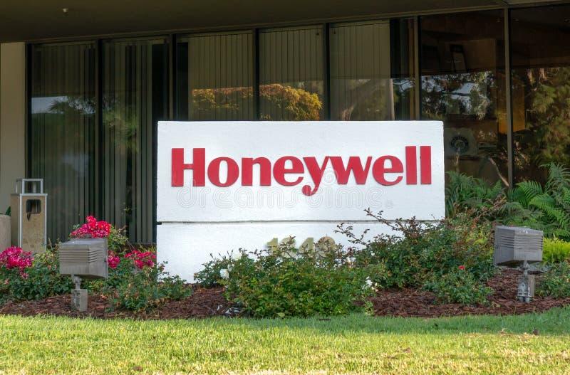 Εξωτερικό Honeywell και λογότυπο εμπορικών σημάτων στοκ εικόνες