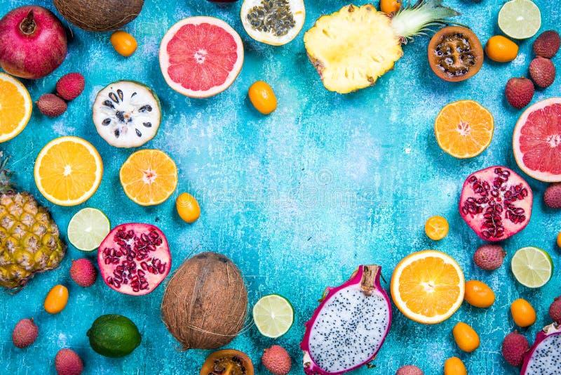 Εξωτικά φρούτα, υγιές διάστημα αντιγράφων έννοιας κατανάλωσης στοκ φωτογραφίες με δικαίωμα ελεύθερης χρήσης