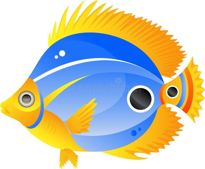 εξωτικά ψάρια διανυσματική απεικόνιση