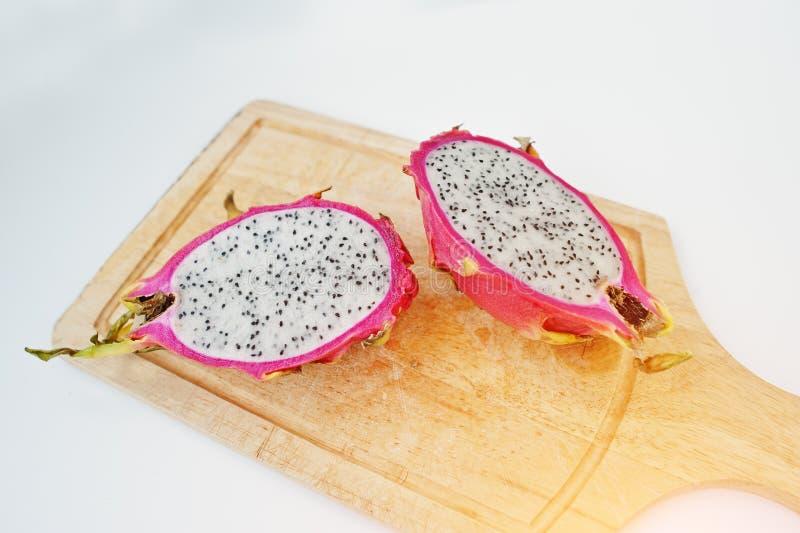 Εξωτικό pitaya φρούτων ή pitahaya, undatu Hylocereus φρούτων δράκων στοκ εικόνες