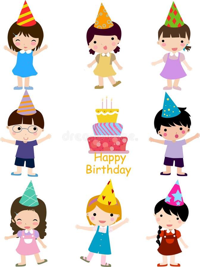 εορτασμός γενεθλίων διανυσματική απεικόνιση