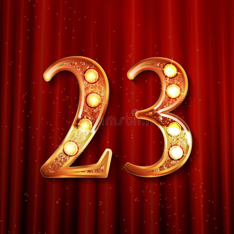 Εορτασμός 23 ετών επετείου απεικόνιση αποθεμάτων