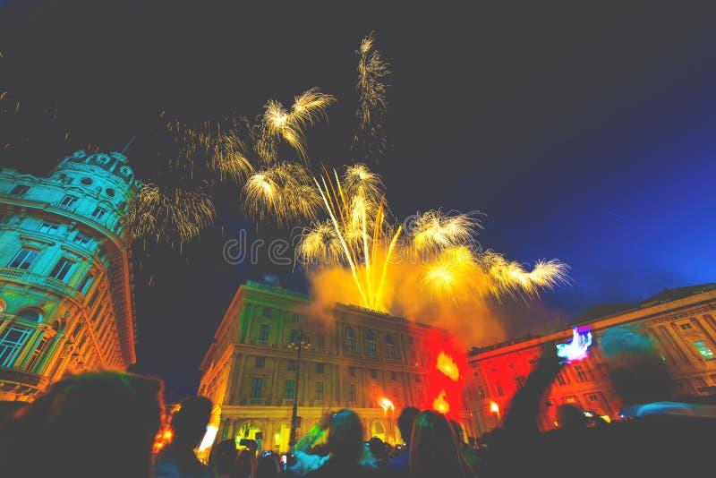 Εορτασμός ημέρας Δημοκρατίας στην πόλη της Γένοβας στοκ φωτογραφία με δικαίωμα ελεύθερης χρήσης