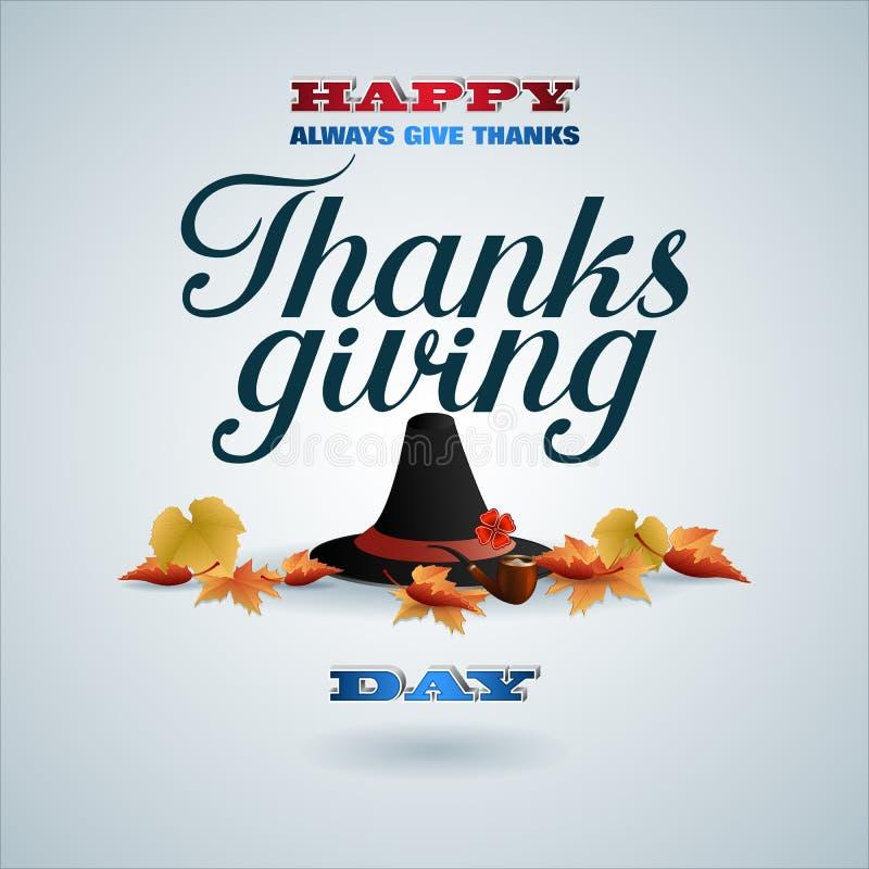 Εορτασμός ημέρας των ευχαριστιών με τα μειωμένα φύλλα απεικόνιση αποθεμάτων