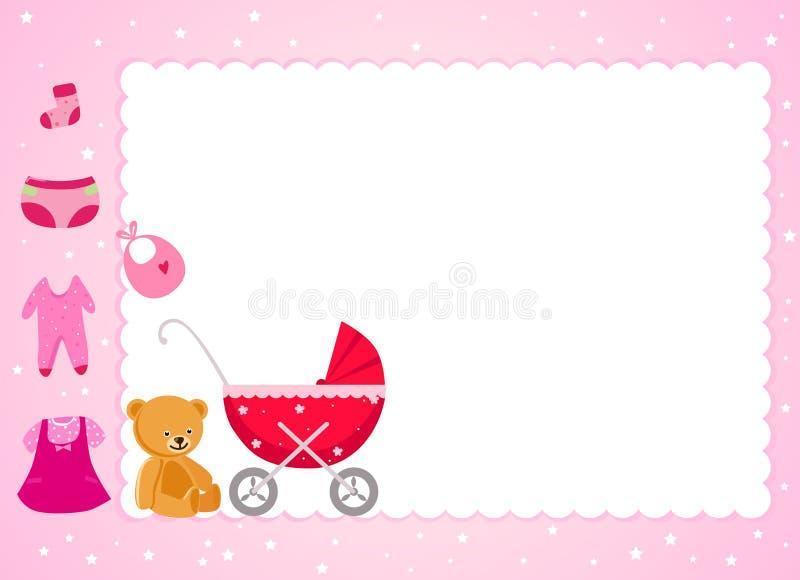 Εορτασμός και πλαίσιο μωρών διανυσματική απεικόνιση