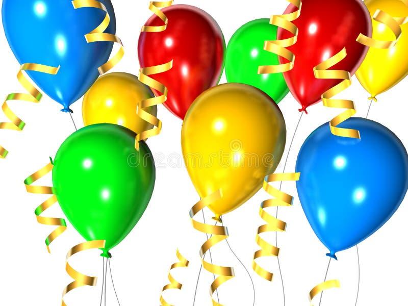 εορτασμός μπαλονιών απεικόνιση αποθεμάτων