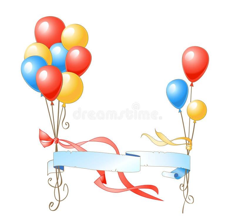εορτασμός μπαλονιών ελεύθερη απεικόνιση δικαιώματος