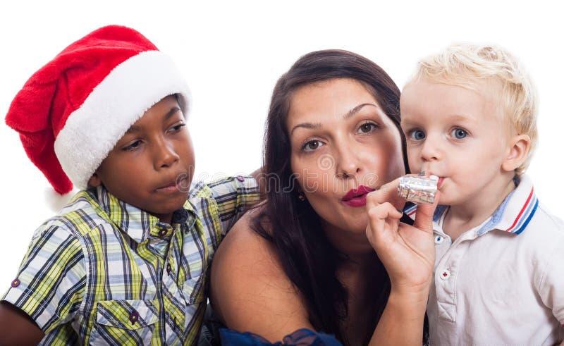 Εορτασμός οικογενειακών Χριστουγέννων στοκ φωτογραφία με δικαίωμα ελεύθερης χρήσης