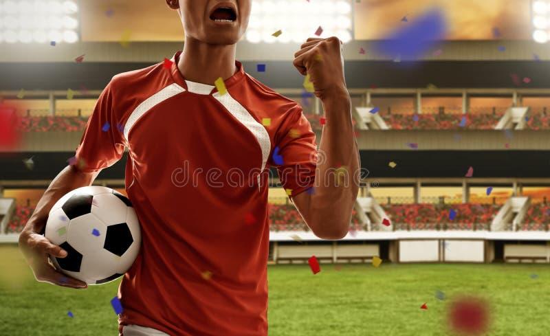 Εορτασμός ποδοσφαιριστών στους τομείς στοκ φωτογραφίες με δικαίωμα ελεύθερης χρήσης