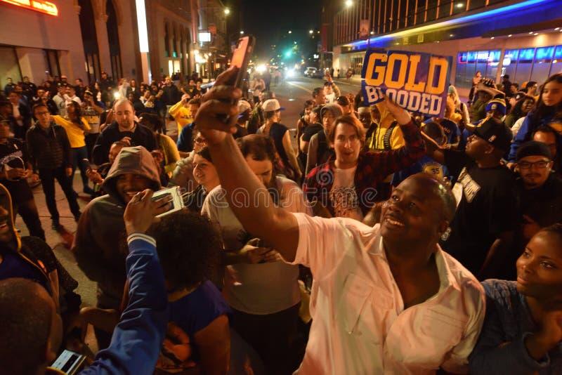 Εορτασμός πρωταθλήματος πολεμιστών Χρυσής Πολιτείας στοκ φωτογραφία με δικαίωμα ελεύθερης χρήσης