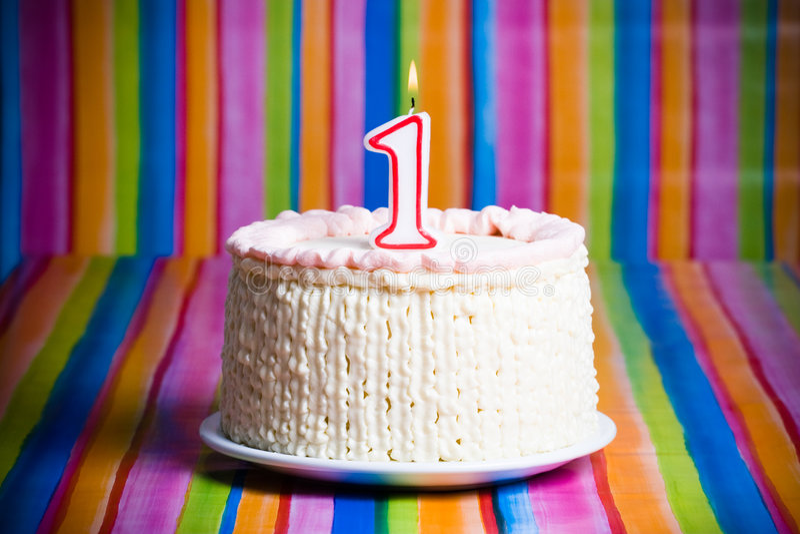 εορτασμός πρώτος κέικ στοκ φωτογραφίες