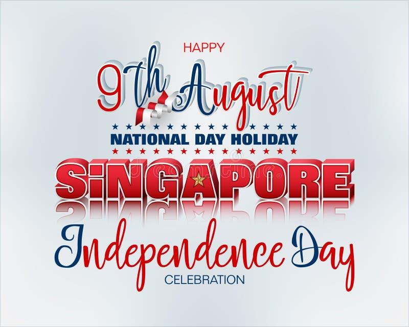 Εορτασμός της εθνικής μέρας της Δημοκρατίας της Σιγκαπούρης απεικόνιση αποθεμάτων