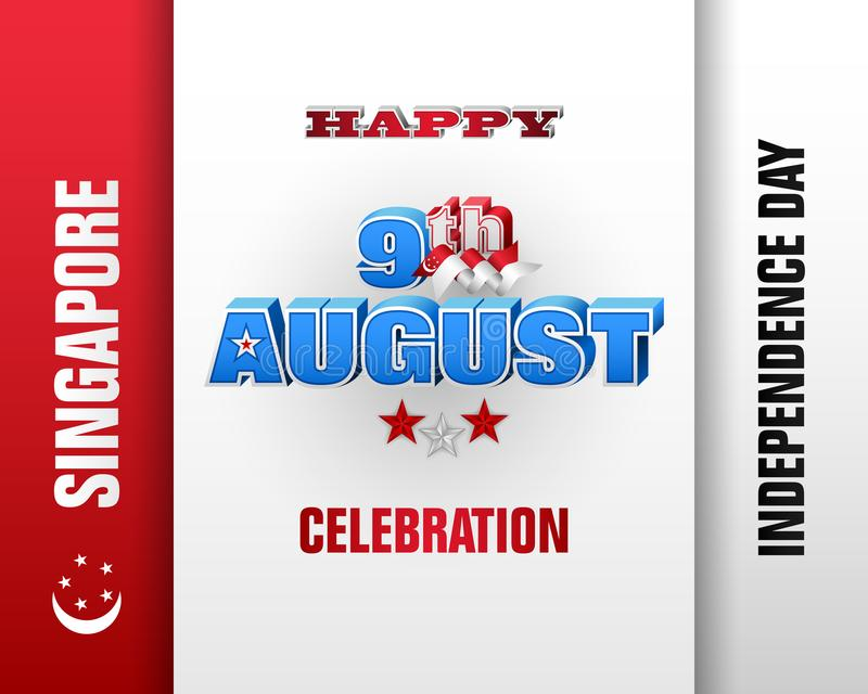 Εορτασμός της ημέρας της ανεξαρτησίας στη Σιγκαπούρη απεικόνιση αποθεμάτων