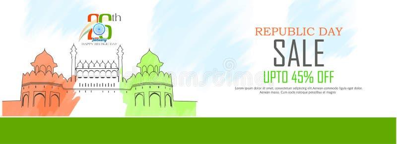 Εορτασμός της Ινδίας ημέρας Δημοκρατίας στις 26 Ιανουαρίου ελεύθερη απεικόνιση δικαιώματος