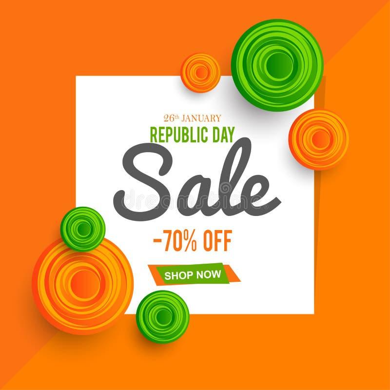 Εορτασμός της Ινδίας ημέρας Δημοκρατίας στις 26 Ιανουαρίου διανυσματική απεικόνιση