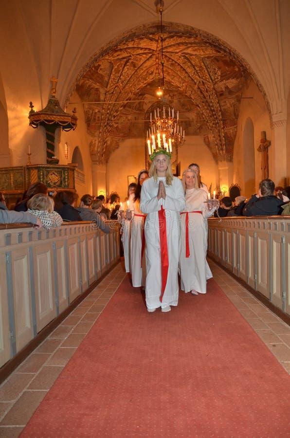 Εορτασμός της Lucia Santa στοκ φωτογραφίες