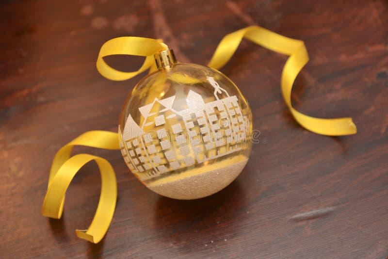 Εορτασμός Χριστουγέννων διακοσμήσεων σφαιρών Χριστουγέννων fon το χειμώνα devember στοκ εικόνες με δικαίωμα ελεύθερης χρήσης