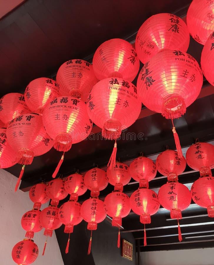 Εορτασμός 2019 CNY Penang - lattern στοκ φωτογραφία