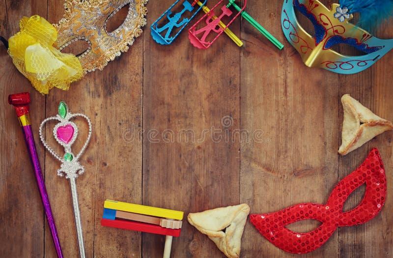 Εορτασμός Purim (εβραϊκές διακοπές καρναβαλιού) Εκλεκτική εστίαση στοκ φωτογραφίες