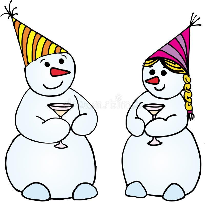 εορτασμός snowmans απεικόνιση αποθεμάτων