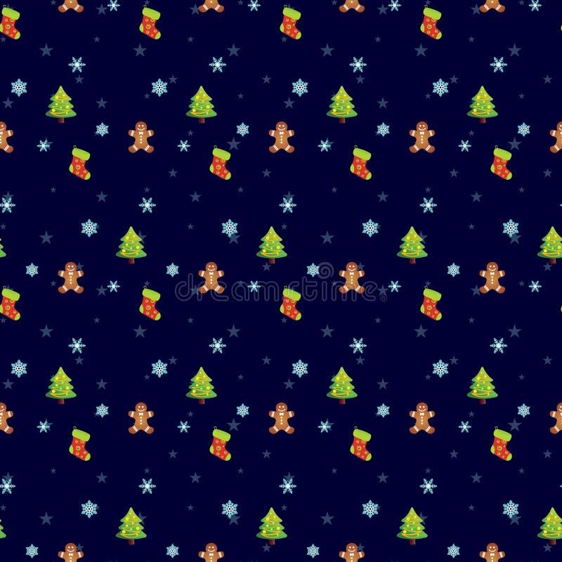 Εορταστικά άνευ ραφής σχέδια Χριστουγέννων ελεύθερη απεικόνιση δικαιώματος