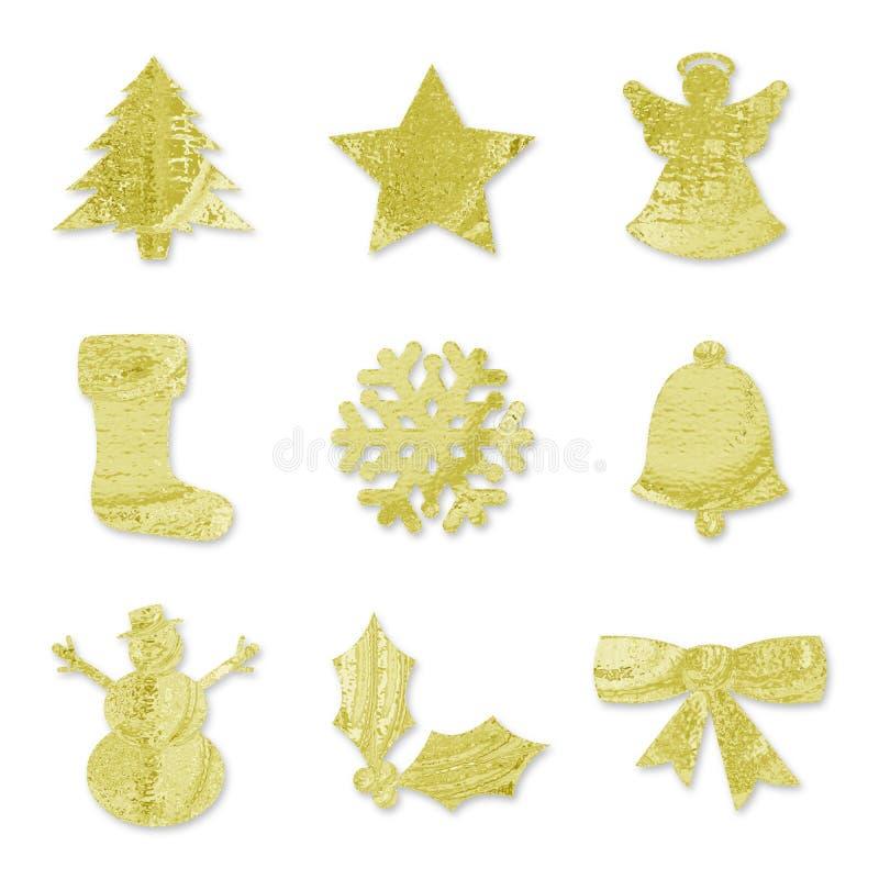 εορταστικά χρυσά σύμβολ&alph στοκ εικόνες