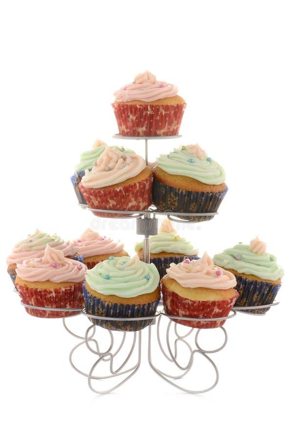 Εορταστικά Cupcakes Στοκ Εικόνα