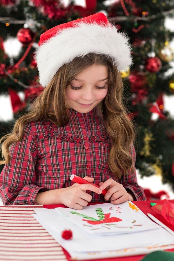 Εορταστικές εικόνες σχεδίων μικρών κοριτσιών στοκ φωτογραφία με δικαίωμα ελεύθερης χρήσης