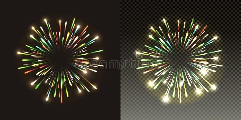 Εορταστική έκρηξη παφλασμών πυροτεχνημάτων ελαφριά στοκ φωτογραφίες με δικαίωμα ελεύθερης χρήσης