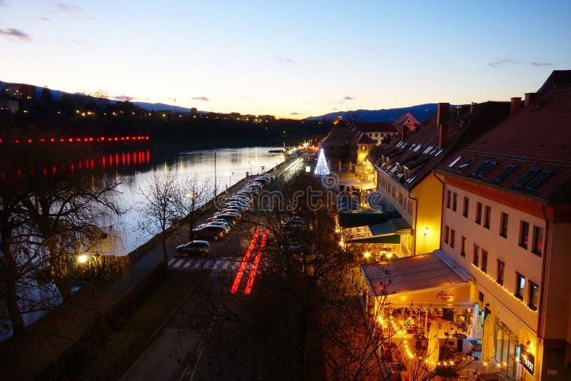 Εορταστική διάκριση, Μάριμπορ, Σλοβενία στοκ εικόνα με δικαίωμα ελεύθερης χρήσης