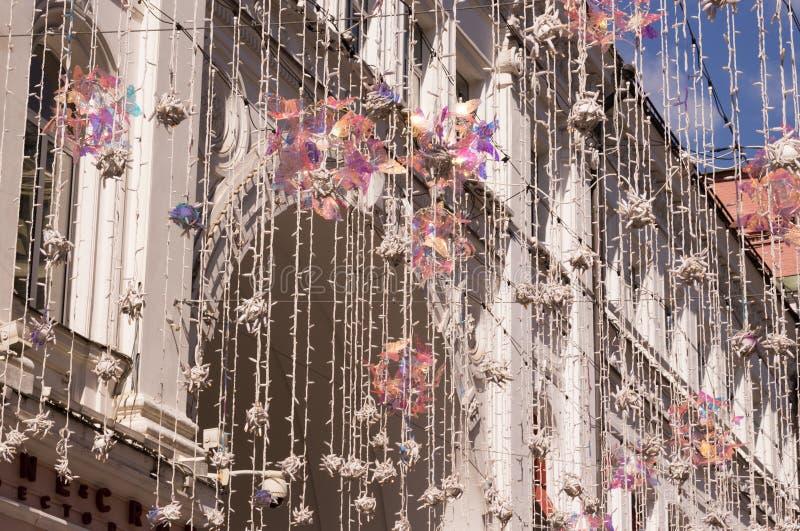 Εορταστική διακόσμηση για το Πάσχα Οδός Nikolskaya στοκ εικόνες