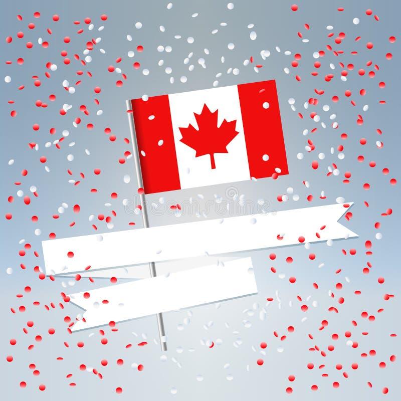 εορταστική κάρτα ημέρας του Καναδά απεικόνιση αποθεμάτων