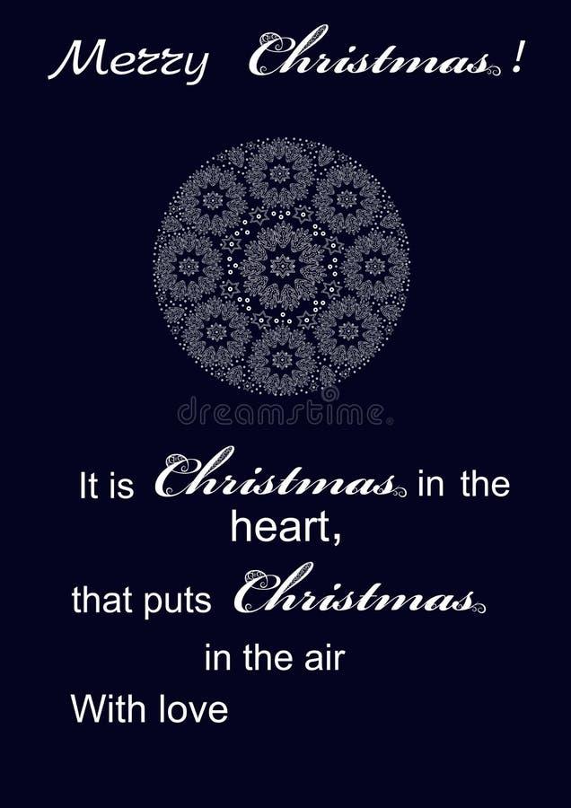 Εορταστική Χαρούμενα Χριστούγεννα χαιρετισμών διανυσματική απεικόνιση