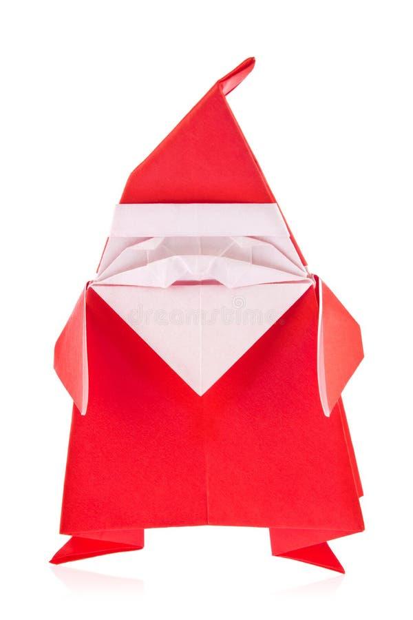 Εορταστικός Άγιος Βασίλης του origami στοκ εικόνες