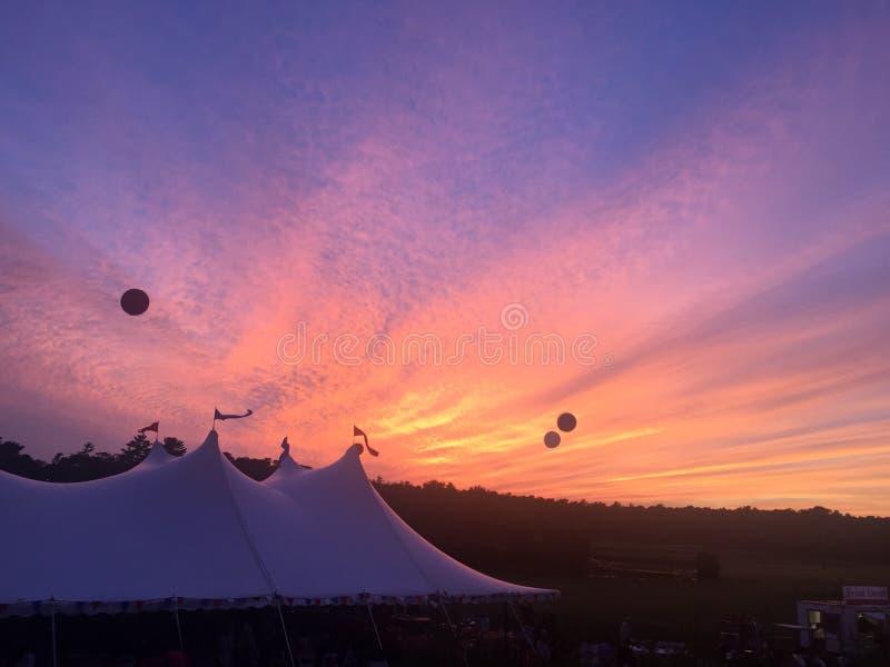 Εορταστικό ηλιοβασίλεμα στο βακαλάο ακρωτηρίων στοκ εικόνες