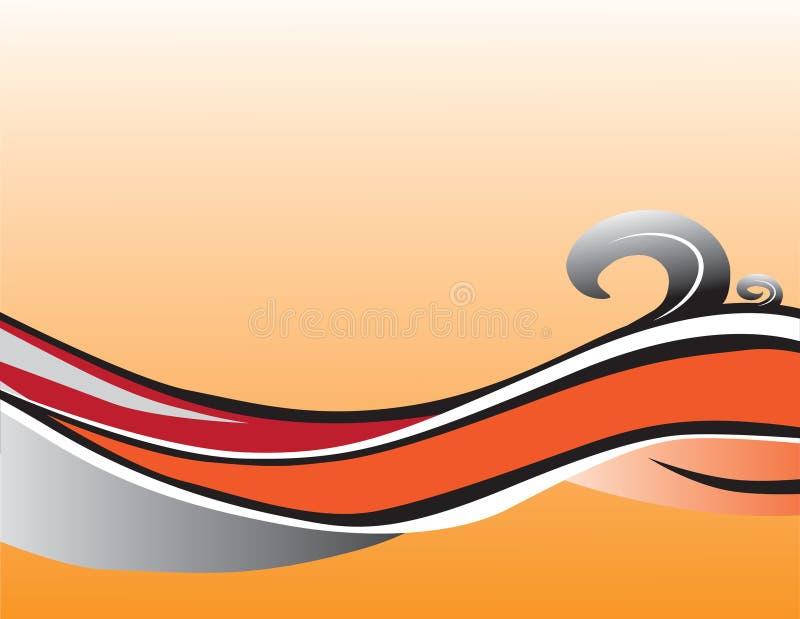 εορταστικό πορτοκάλι φαντασίας διανυσματική απεικόνιση