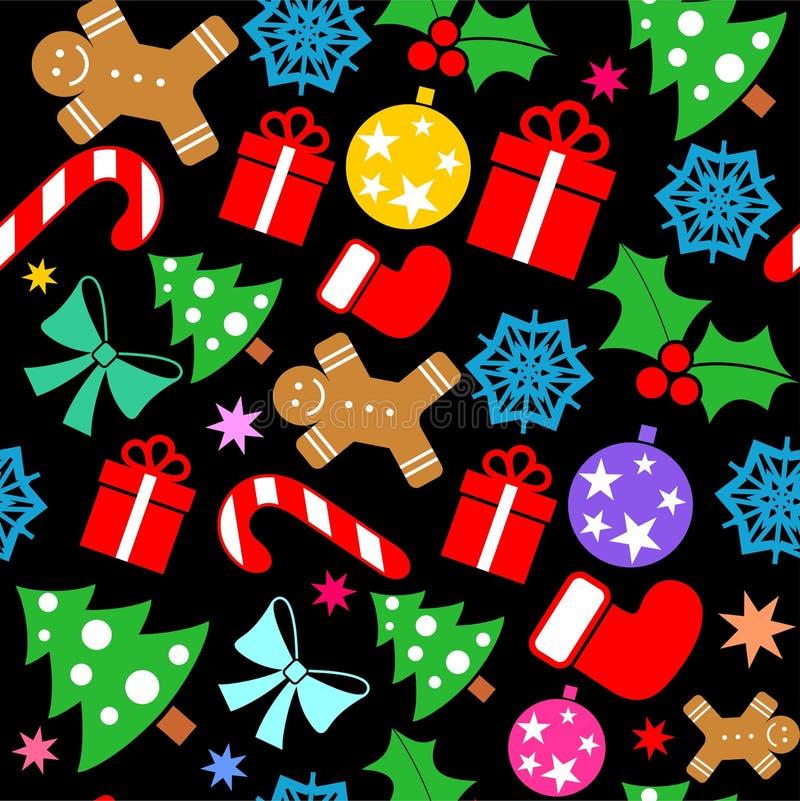 Εορταστικό τυλίγοντας έγγραφο Χριστουγέννων διανυσματική απεικόνιση