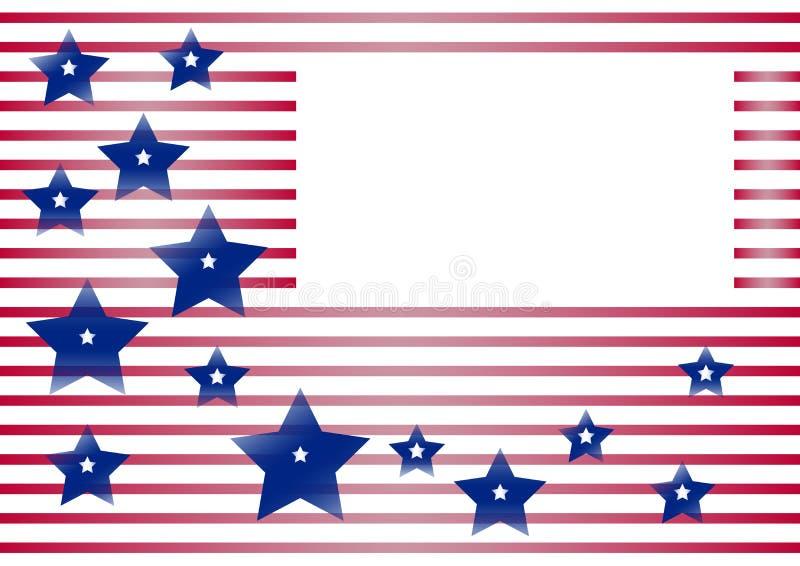 Εορταστικό υπόβαθρο με το πλαίσιο για το κείμενό σας για τη ημέρα της ανεξαρτησίας και την ημέρα πατριωτών των Ηνωμένων Πολιτειών διανυσματική απεικόνιση