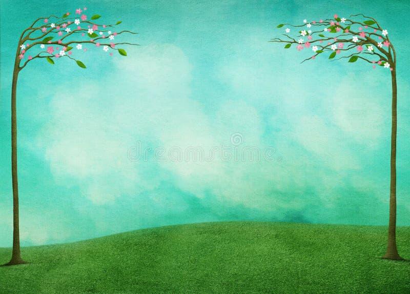 Εορταστικό υπόβαθρο Πάσχας άνοιξη διανυσματική απεικόνιση