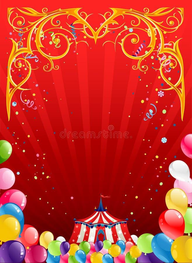 Εορταστικό υπόβαθρο τσίρκων διανυσματική απεικόνιση