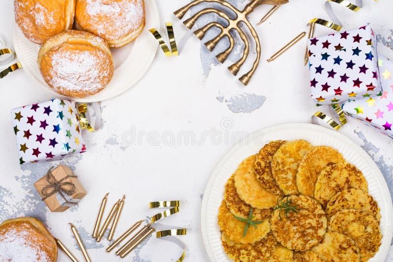 Εορταστικό υπόβαθρο Hanukkah στοκ εικόνα