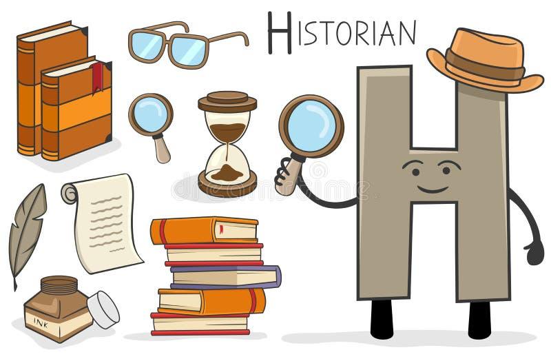 Επάγγελμα Alphabeth - γράμμα Χ - ιστορικός ελεύθερη απεικόνιση δικαιώματος