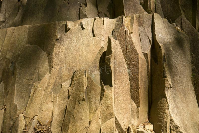 Επάνθιση βασαλτών ηφαιστειακής προέλευσης στο βουνό Talcott στο Κοννέκτικατ στοκ φωτογραφία με δικαίωμα ελεύθερης χρήσης